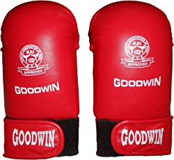 Kai Approved Goodwin Karate Hand Gloves Red or Blue-Size-Free-Good Quality Rexine