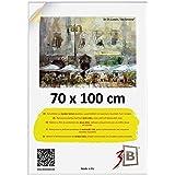 3-B Ramka na zdjęcia plakat – ramka na plakat ze szkłem poliestrowym i opakowaniem ochronnym – biała – 70 x 100 cm (B1)