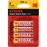 Kodak Extra Heavy Duty Zinc batería, AA , 1,5V, pack de 4