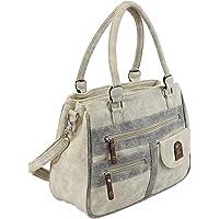 irisaa Handtasche Damen Umhängetasche Medium Schultertasche praktische Henkeltasche mit vielen Fächern Hobo Taschen…
