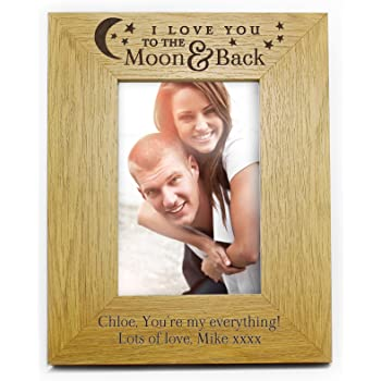Ukgiftstoreonline Me And My Auntie Love You To The Moon Photo Frame