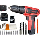 iBELL Cordless Drill Driver CD12-74, 12-Volts,1 Battery+BMC Box + Extra 32 Accesories