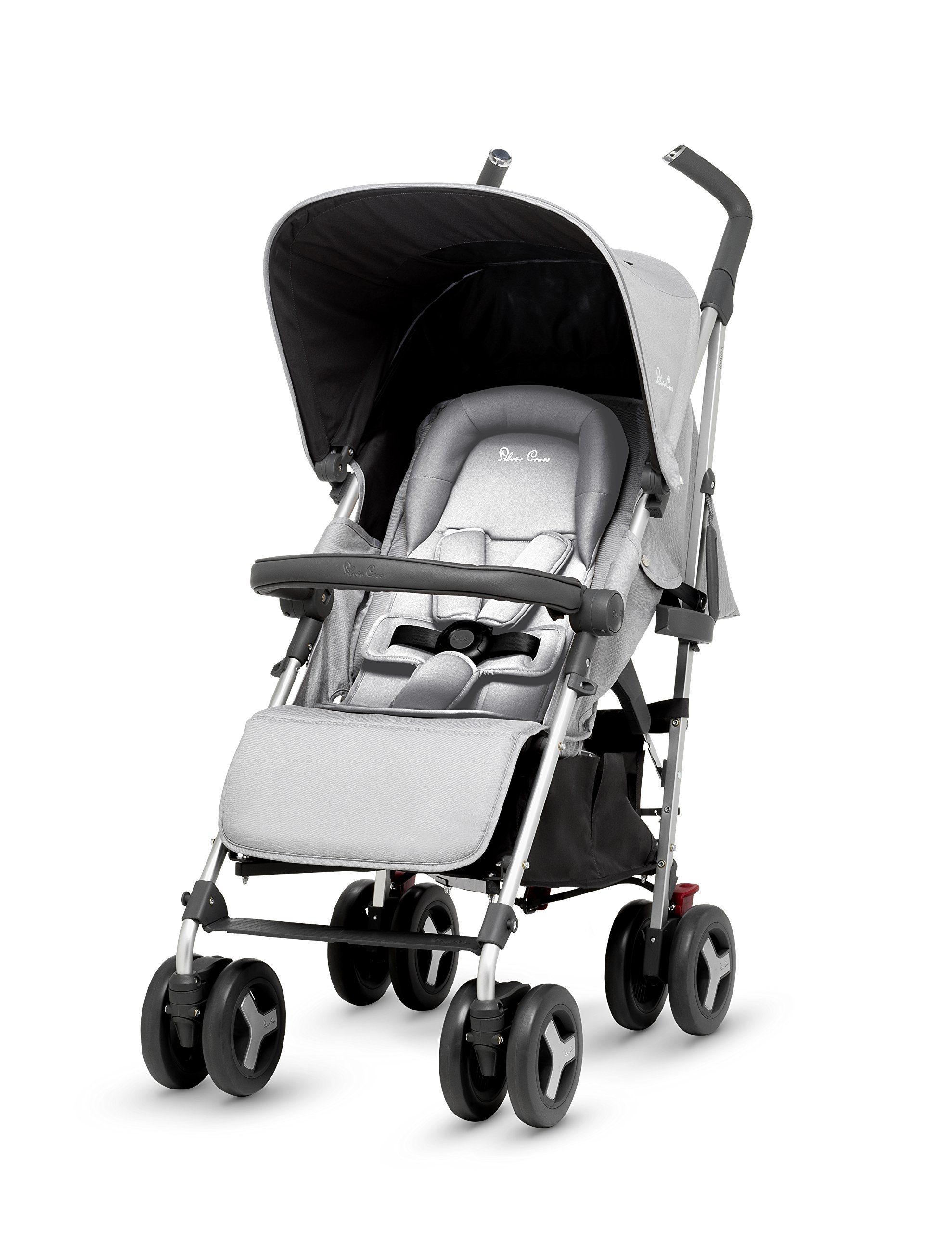 Silver Cross Reflex Stroller, Platinum Silver Cross Reflex is an advanced stroller, suitable from birth up to 25kg, with a wealth of features 5-point Harness Combine with Silver Cross Simplicity Car Seat to create a convenient Travel System 4