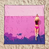 OCOOPA Beach Blanket Picnic Blanket, Large 200x210 cm Waterproof Sandproof Water Resistant Beach Mat with 4 Fixed Nails, Rein
