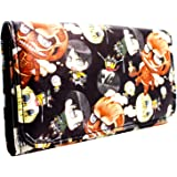Attack on Titan Chibi Eren Yeager Coin and Card Tri-Fold Purse Black