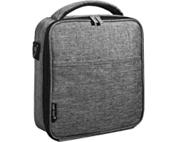 UPPER ORDER Durable Insulated Lunch Box Tote Reusable Cooler Bag 25% Larger Greater Storage (Charcoal Grey)