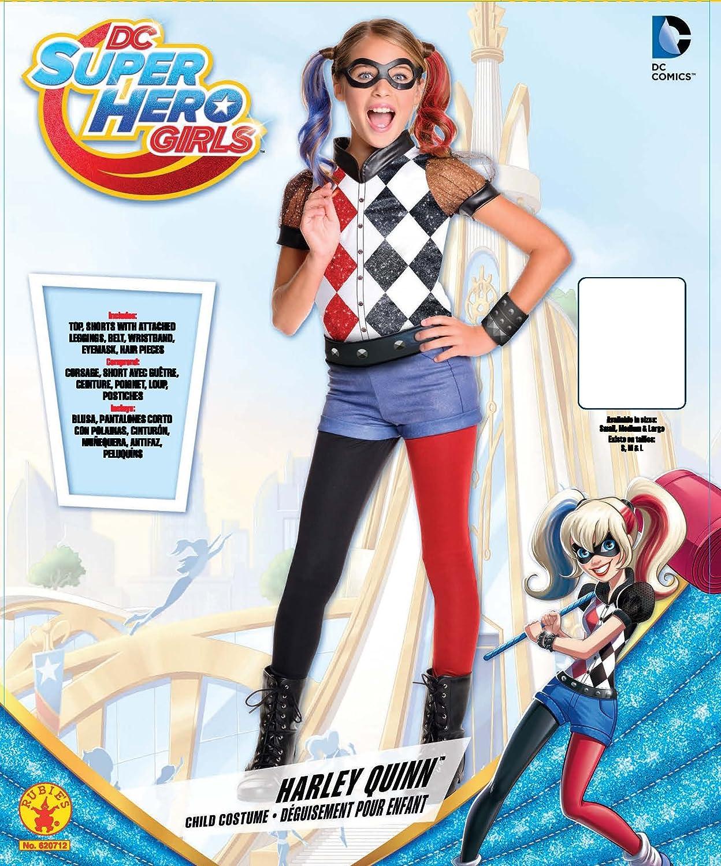 Buy Rubie s Costume Kids DC Superhero Girls Deluxe Harley Quinn ...