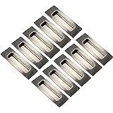 Gedotec schuifdeurgreep hoekschuifdeurgreep inox mat voor binnendeuren - Laranka | greepschaal verdekt | 120 x 40 mm | 10 stu