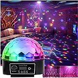 Partylicht Discobal LED-Feestverlichtingseffecten Muziekgestuurde RGB 6-Kleur voor Discoclubs Feestpodiumverlichting met Afst