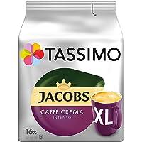 Tassimo Kapseln Jacobs Caffè Crema Intenso XL, 80 Kaffeekapseln, 5er Pack, 5 x 16 Getränke