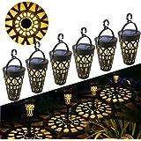 Lámpara Solare para Jardín GolWof 6 Piezas Luz Solar Exterior Impermeable Luces Solar Exterior Luces Exterior Iluminación Dec