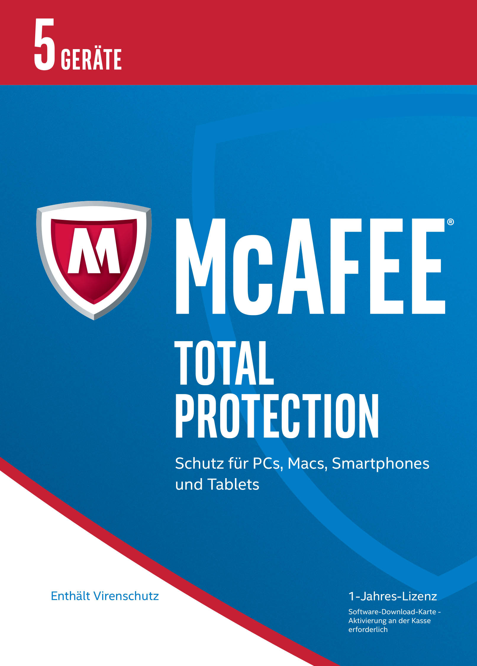 Produktbild McAfee Total Protection 2017 für 5 Geräte (Download Code) [Online Code]