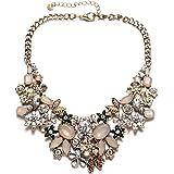 Collana girocollo in cristallo scintillante con catena color oro vintage per il partito