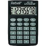 Rebell RE-HC108 rekenmachine, 8-cijferig lcd-display en drievoudige geheugenfunctie, zwart