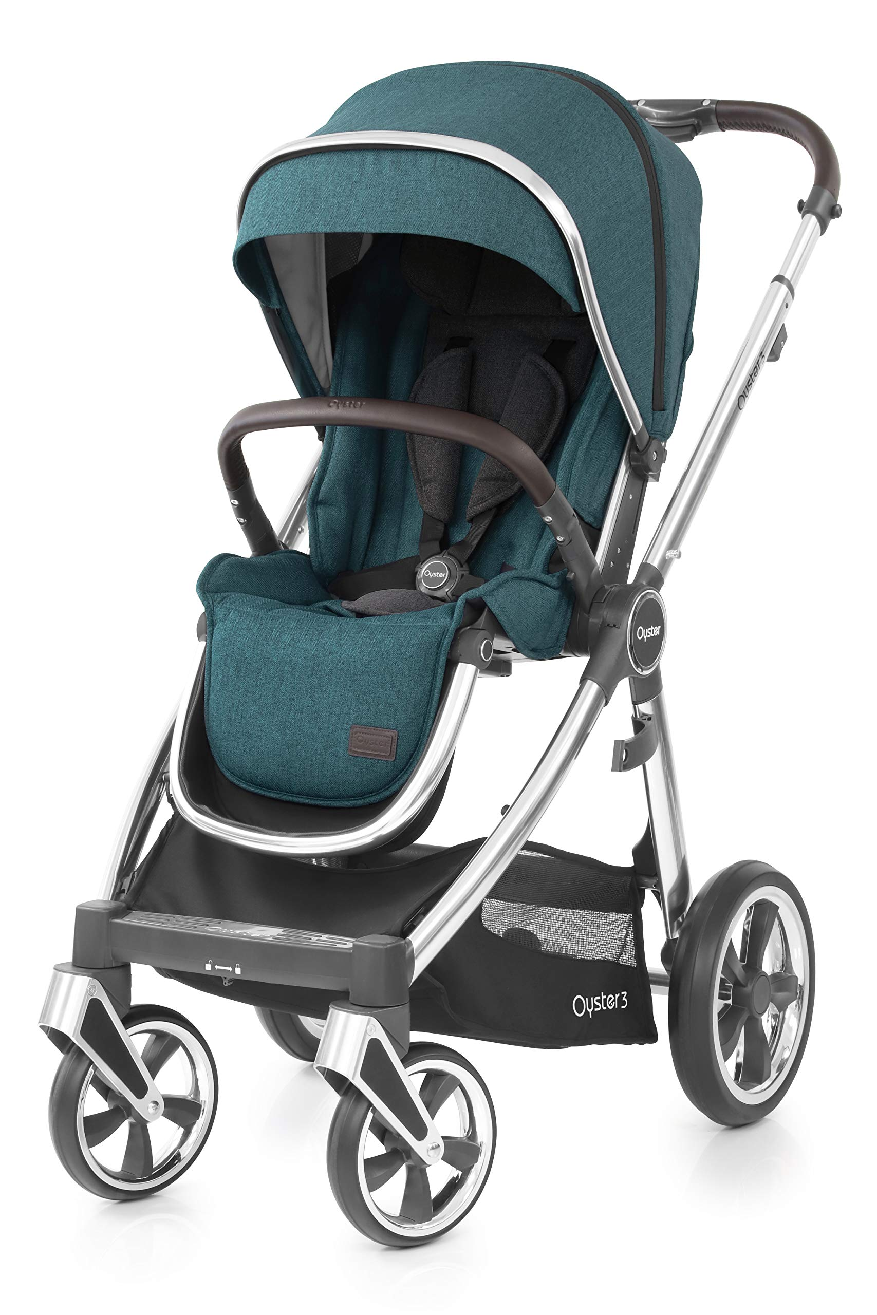 Babystyle Oyster3 Pushchair in Peacock Mirror Chassis Babystyle  2