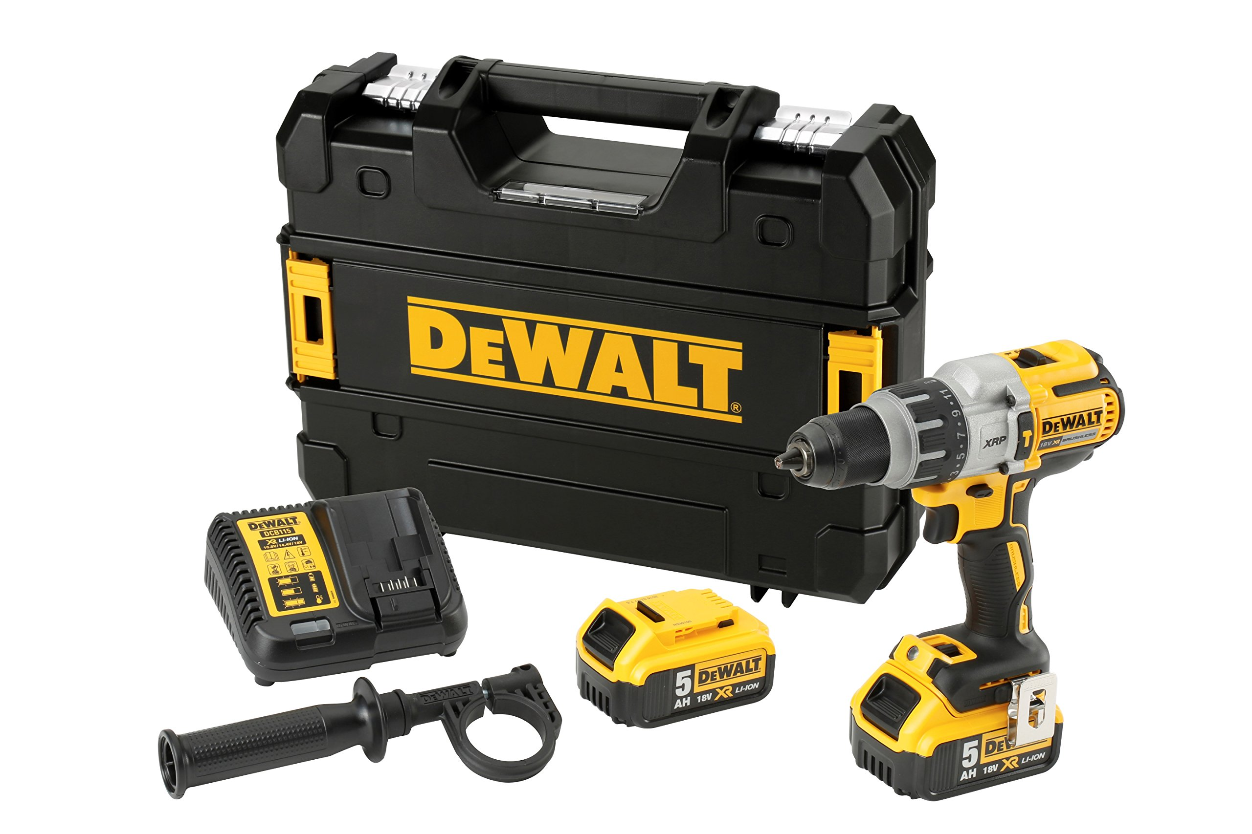 DEWALT DCD996P2-QW – Taladro Percutor a bateria sin escobillas XR 18V XRP 13mm 95Nm con 2 baterías Li-Ion 5,0Ah con maletín TSTAK