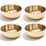 Pure Source India Handmade Bronze Kansa Bowl, Small in Size, Many More Health Benefit of Regular Use of This Bowl (4 Pcs…