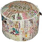 Bohemian Patchwork Poef Ottoman, Woonkamer Poef, Katoen Handgemaakte Ottomaanse Poef, Vintage Indiase Poef, poef, poefs, Voet
