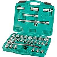 Set cricchetto e bussole da 32 pezzi con attacco per candela di accensione   WIESEMANN 80096   set per meccanici…