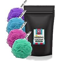 RIXTEC Premium bathing loofah body scrub for men and women (pack of 4)