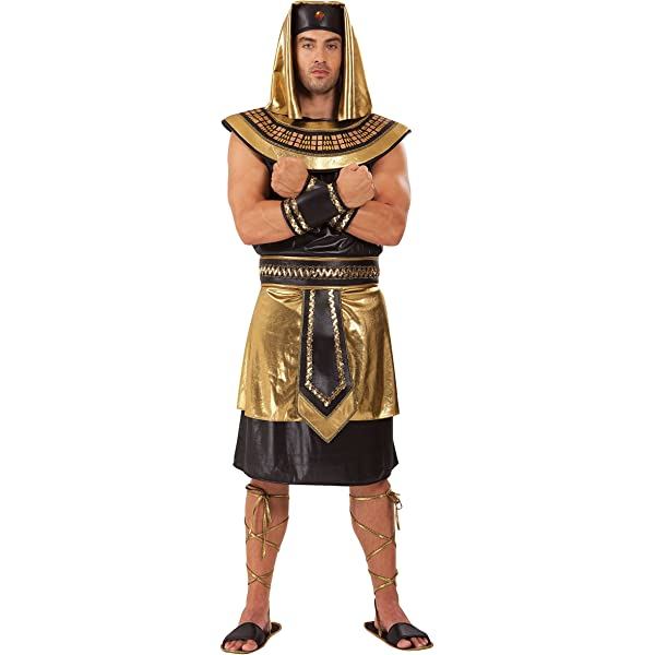 Adult Egyptian Pharaoh 3 Sizes Ancient King Costume Fancy Dress