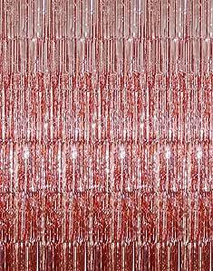 Goer Fransenvorhänge Aus Metallic Lametta Folie 1 X 3 M Für Partys Fotohintergrund Amazon De