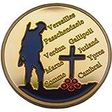 World WAR 1 Memorial Army Commemorative Coin Token 1914-18 SOMME Verdun Honour Great WAR Gift