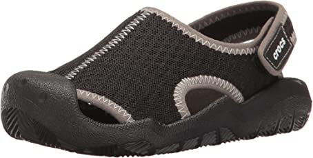 crocs Swiftwater Girls Sandal in Black