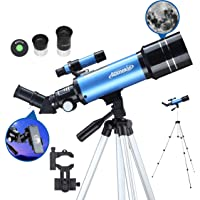 AOMEKIE Aomekie Telescopes for Adults Kids Astronomy Beginners 400mm Focal Length 70mm with Adjustable Tripod Phone…