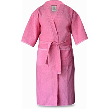 Loomkart Very Fine Export Quality Bath Robes in Pink in Avioni Zip-Packing-  Standard Size 30473fba2