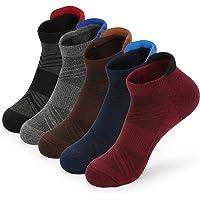5 Pairs Womens Running Socks Walking Hiking Trainer Sports Socks for Women Ladies Blister Cushioned Ankle Socks White…