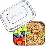 BREADL® Edelstahl Brotdose 1000ml, Spülmaschinenfest, BPA-frei, Trennwand und 2 Fächer, Lunchbox & Bento-Box für Kinder & Erw