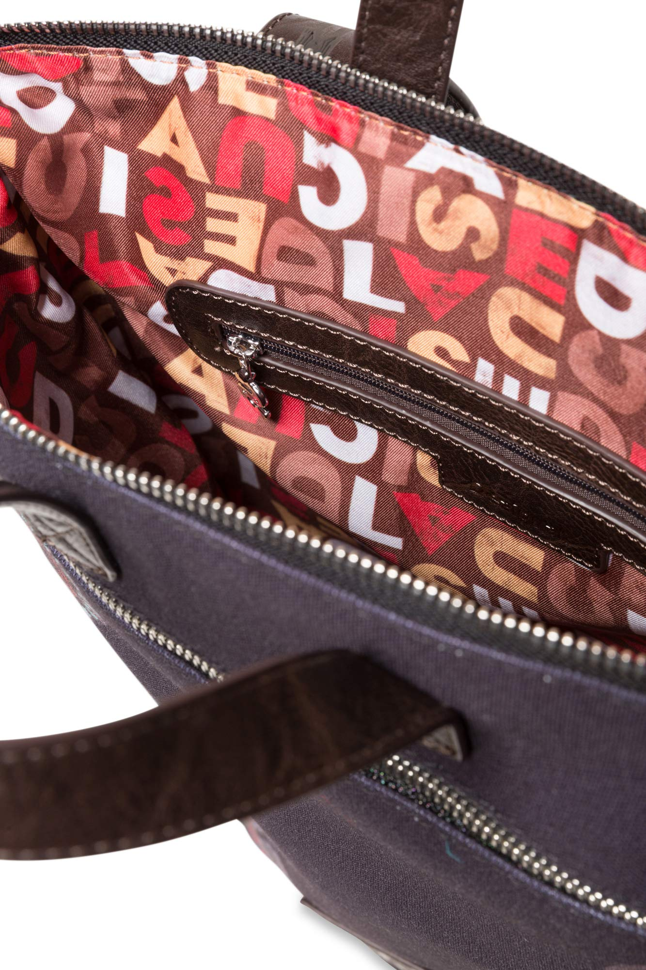 B x H x T Desigual 19WAKA07 Bolso mochila de Sint/ético Mujer 37x9x24 cm