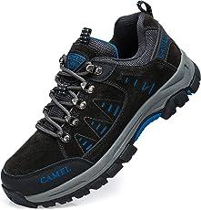 CAMEL CROWN Wanderschuhe Herren, Low Top Trekkingschuhe Kletterschuhe Atmungsaktive Rutschfeste Turnschuhe Freizeit Sneakers Walkingschuhe Outdoorschuhe Fr Maenner