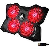 KLIM Wind - Refroidisseur Ordinateur Portable + Le Plus Puissant + Refroidissement Ultra Rapide + 4 Ventilateurs Silencieux +