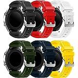 Syxinn Compatible con Correa de Reloj Gear S3 Frontier/Classic/Galaxy Watch 46mm/Galaxy Watch 3 45mm Banda de Silicona Suave