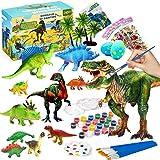 Joyjoz Juego de Arte Manualidades para Niños - Juguetes de Dinosaurio 3D de 38 Piezas, Regalo de Cumpleaños y de Navidad para