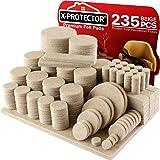 Fieltro adhesivo X-PROTECTOR - Almohadillas de fieltro paquete gigante 235 - Todos los tamaños de fieltro autoadhesivo - Prot