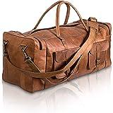 Komal s Passion Leather - Borsone da viaggio in pelle da 32 pollici