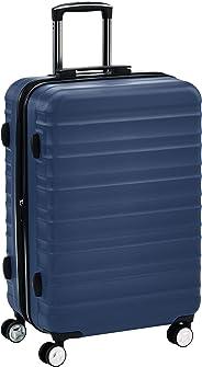 Hochwertiger Hartschalen-Trolley mit eingebautem TSA-Schloss und Laufrollen, 68 cm, Marineblau