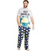 PoKéMoN Mens Pyjamas, Snorlax Cotton PJs, Novelty Gifts for Adults and Teens