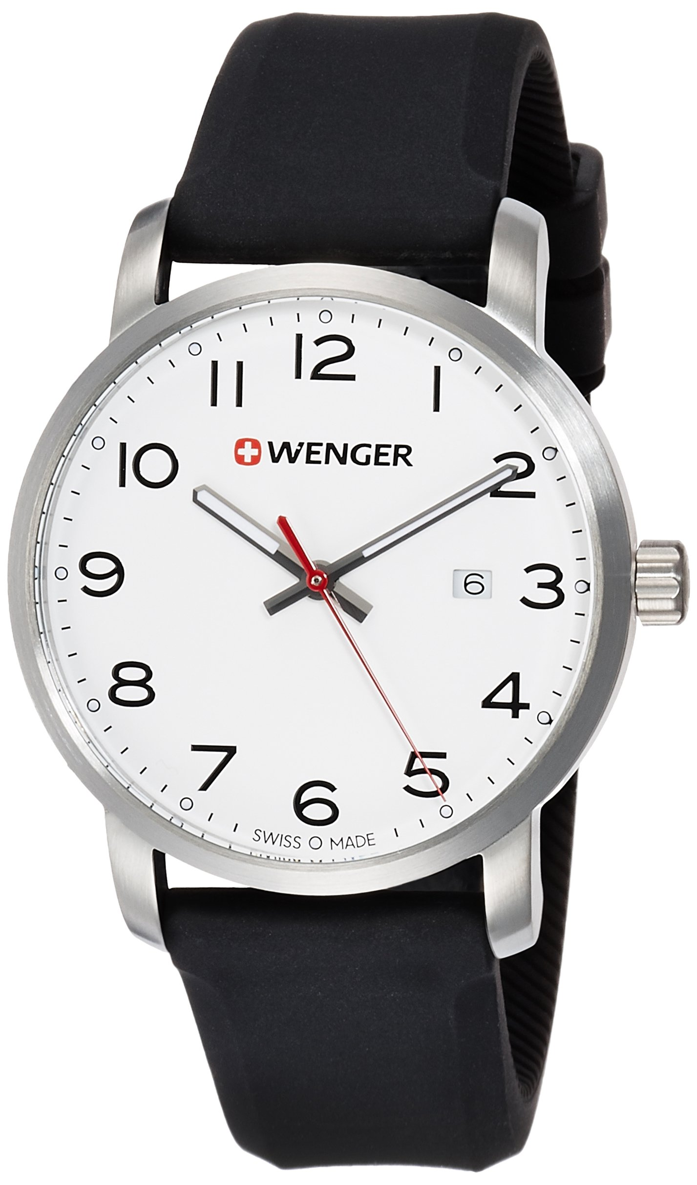 WENGER Unisex Analogue Quartz Watch with Silicone Strap 01.1641.103