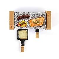 LIVOO DOC218 Appareil à Raclette 2 Personnes | Finition en Bois Véritable, Grill en Granite | Revêtement Anti-adhésif…