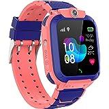 Zeerkeer GPS Reloj Inteligente Niños,Smartwatch Niños con GPS+LBS Impermeable IP67 SOS Cámara Smart Watch Telefono con Ranura