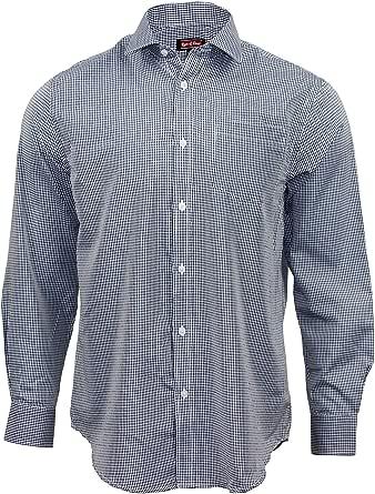 Rare & Dear Men's 100% Cotton Long Sleeve Regular Fit Smart Casual Gingham Formal Shirts