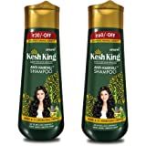 Kesh King Scalp And Hair Medicine Anti Hairfall Shampoo, 200ml And Kesh King Anti Hairfall Shampoo with aloe and 21 herbs, 34