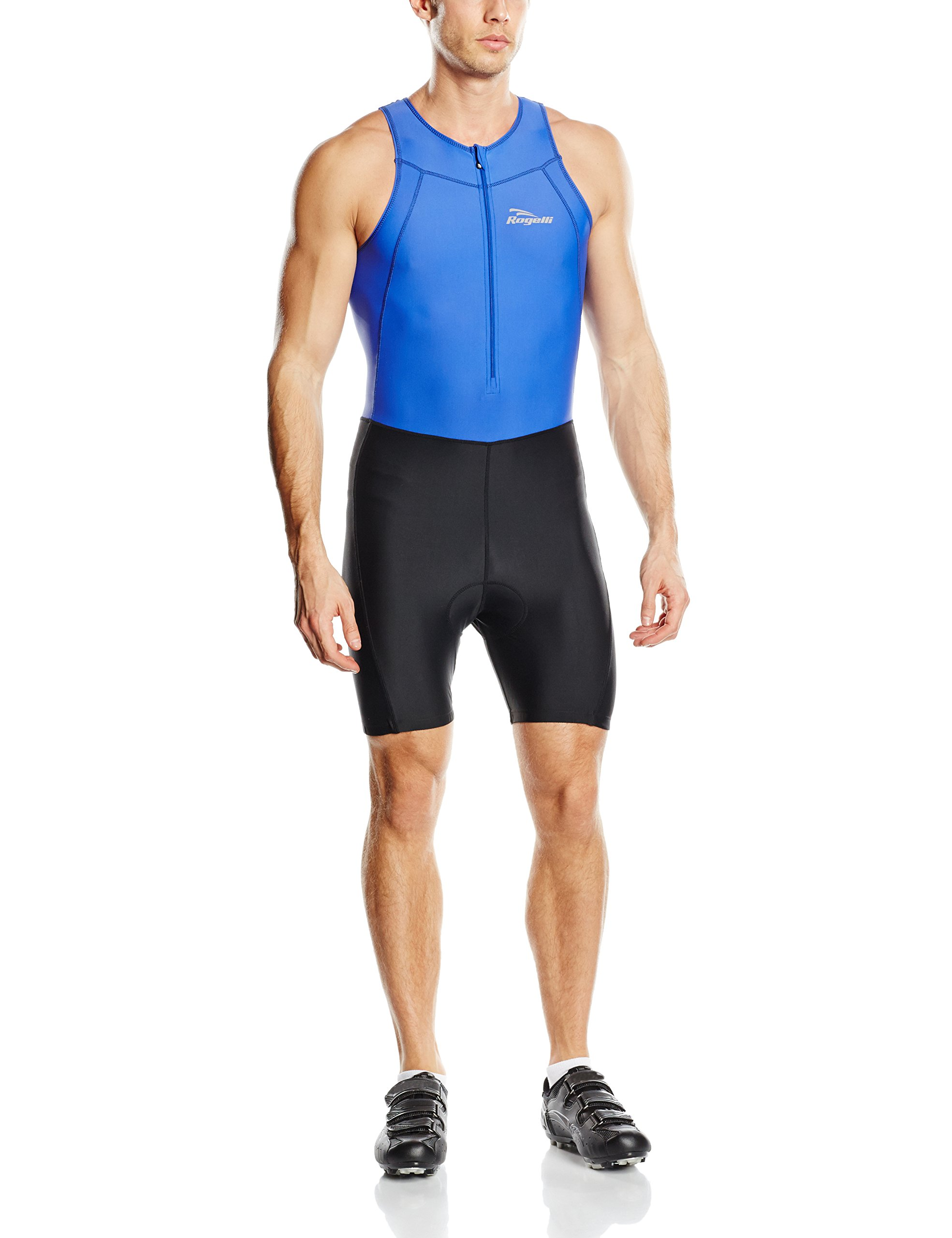 Rogelli Nero Colore Tuta Intera Corta da Uomo per Triathlon