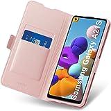 Aunote Samsung Galaxy A21S etui, Galaxy A21S etui ochronne z przegródką na karty, etui na telefon komórkowy, skórzane etui z