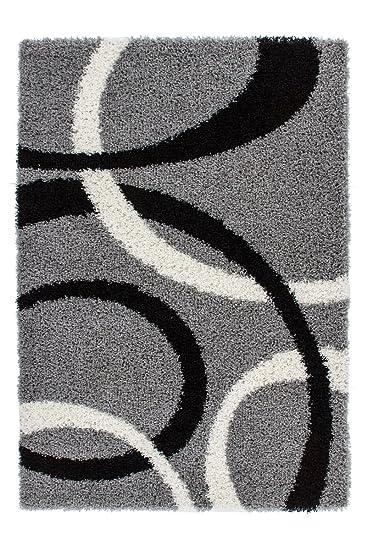 Teppich retro  Amazon.de: Lalee 347186808 Designer Hochflor Shaggy Teppich ...