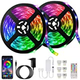 10M Bluetooth Striscia LED Musicale 5050 RGB Impermeabile SMD, Akapola 300 LEDs TV Retroilluminazione Strisce, Funzione Music